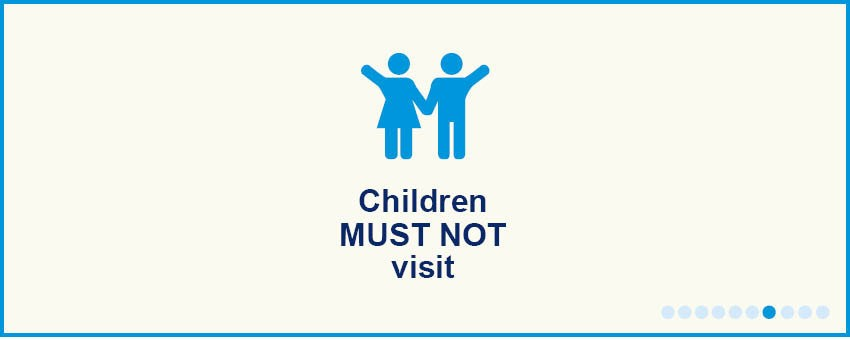 No children visitors